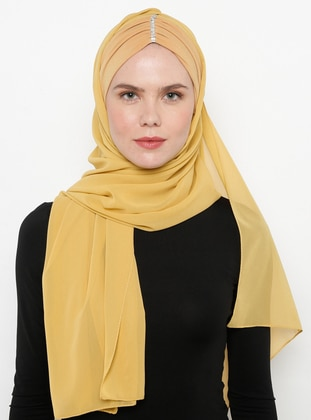 Gold - Gold - Plain - Litho - Shawl