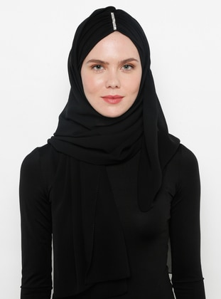 Black - Plain - Litho - Shawl