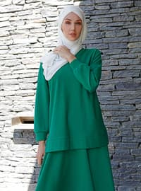 Green - Unlined -  - Suit