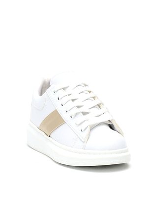 Gold - White - Casual - Shoes - Dujour Paris