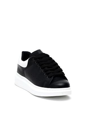 White - Black - Casual - Shoes - Dujour Paris