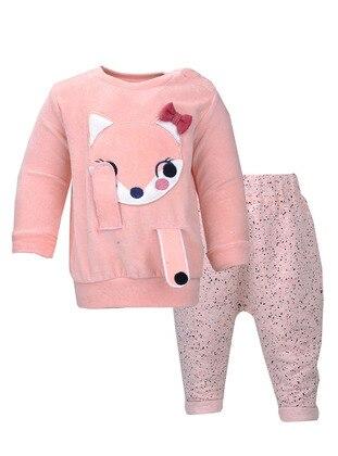 Stripe - Crew neck - Pink - Baby Suit