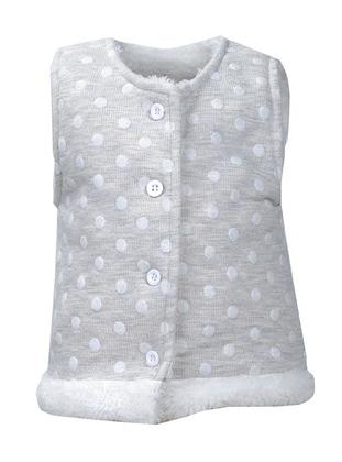 Polka Dot - Crew neck -  - Ecru - Gray - Baby Vest