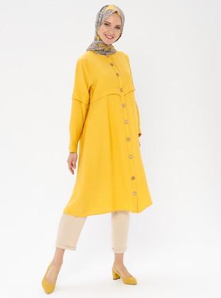 Mustard - Crew neck -  - Tunic
