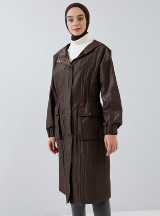 Brown - Fully Lined - Trench Coat