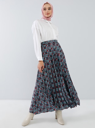 Blue - Plum - Multi - Skirt