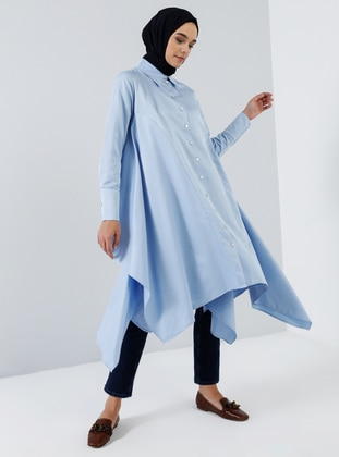 Blue - Point Collar -  - Tunic