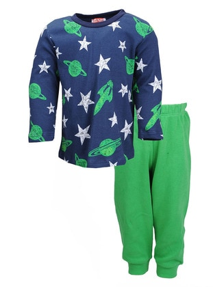 Crew neck -  - Green - Boys` Pyjamas