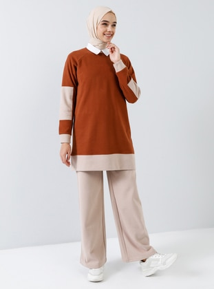 Cinnamon -  - Crew neck - Tracksuit Set