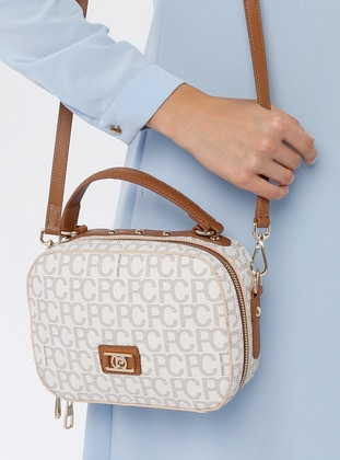Beige - Gold - Shoulder Bags