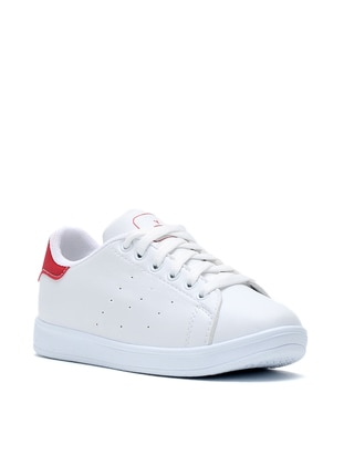 White - Red - Sport - Shoes