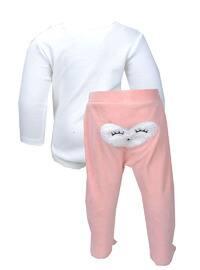 Crew neck - Ecru - Pink - Baby Suit