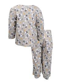 Multi - Crew neck -  - Ecru - Boys` Pyjamas