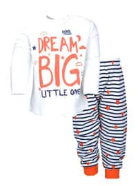 Multi - Crew neck -  - Ecru - Girls` Pyjamas