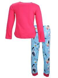 Multi - Crew neck -  - Fuchsia - Girls` Pyjamas