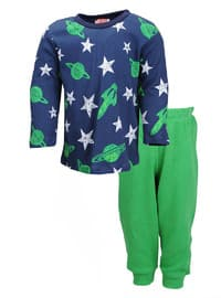 Crew neck -  - Green - Boys` Pyjamas