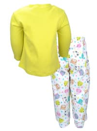 Multi - Crew neck -  - Green - Girls` Pyjamas