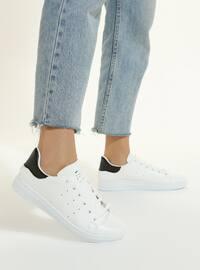 White - Black - Sport - Sports Shoes