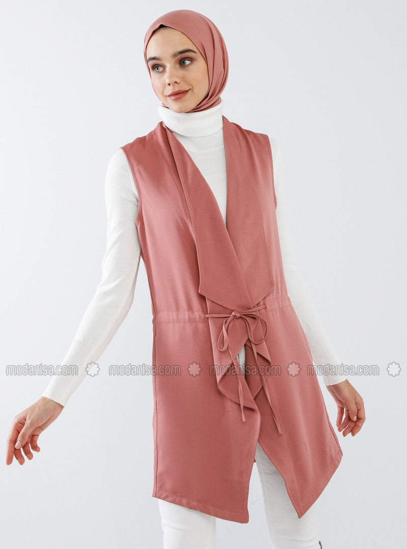 Dusty Rose - Unlined - Shawl Collar - Vest