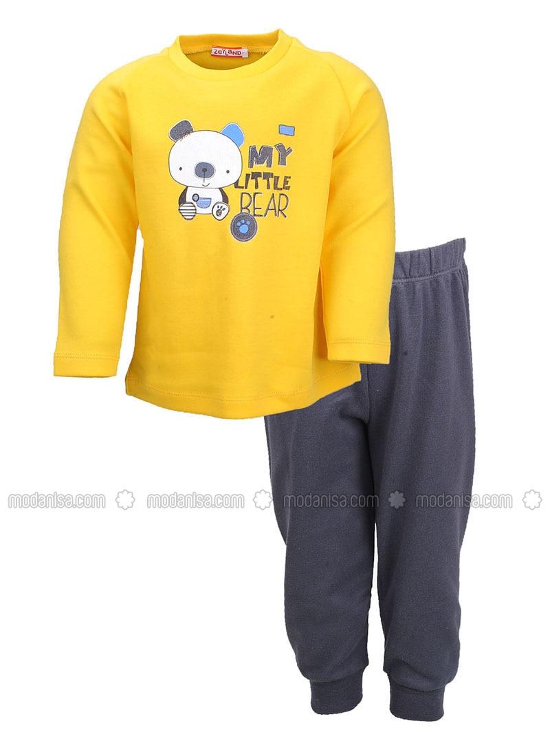 Crew neck -  - Mustard - Boys` Pyjamas