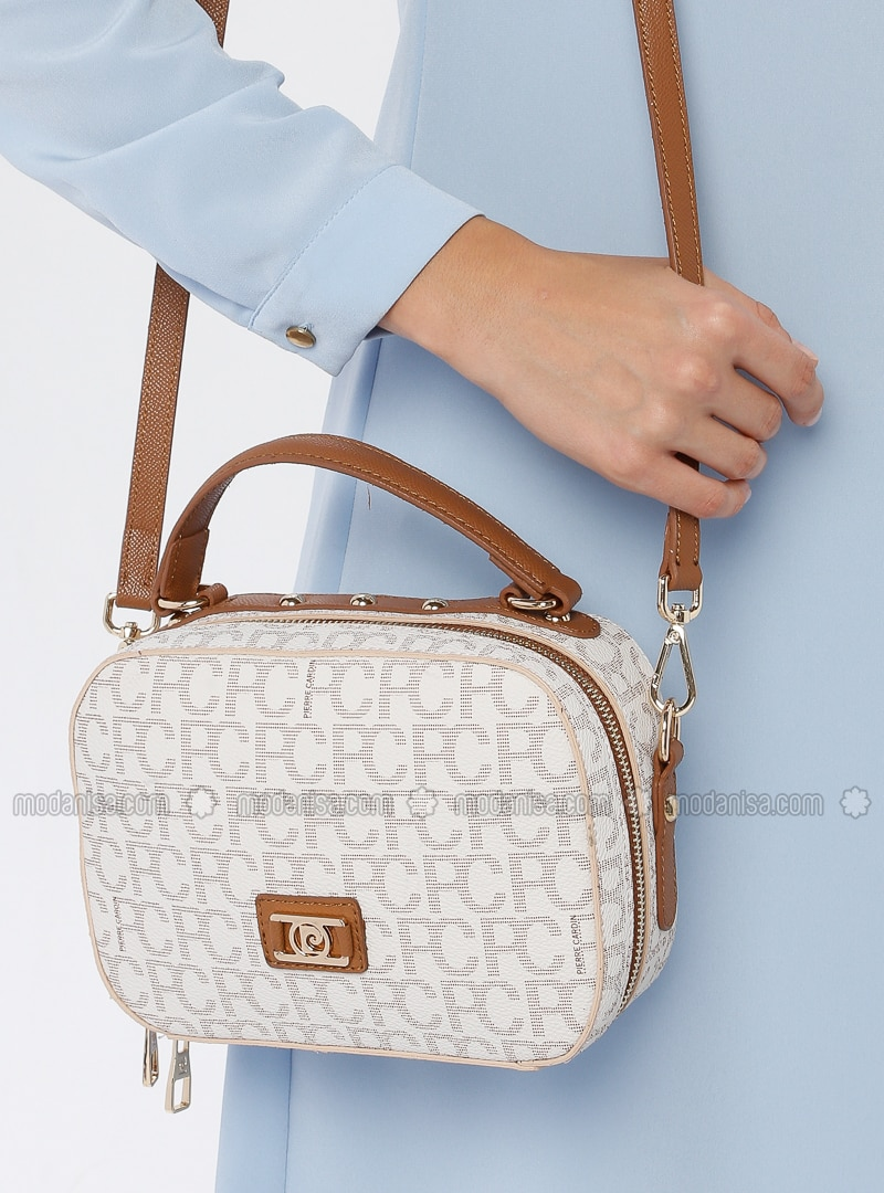 Beige - Gold - Shoulder Bags