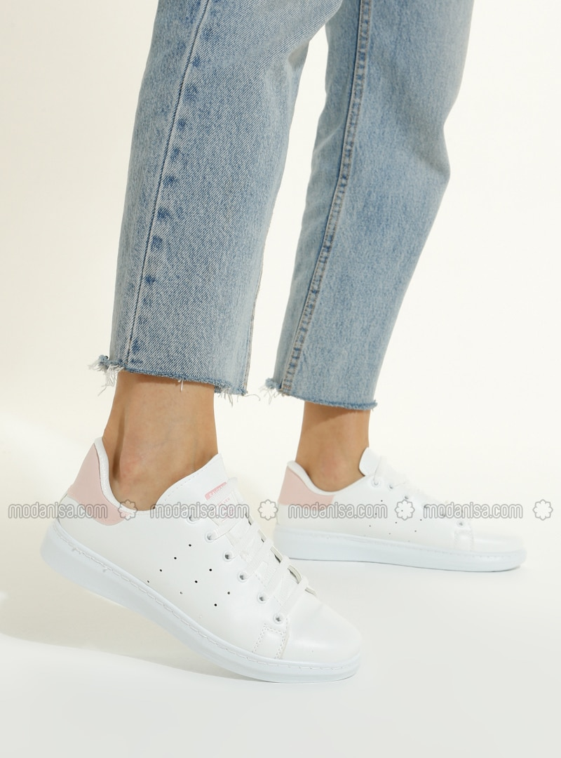 White - Pink - Sport - Sports Shoes
