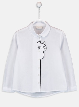 Ecru - Girls` Shirt - LC WAIKIKI