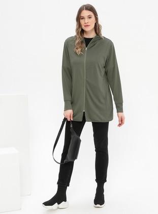 Khaki - Plus Size Tracksuit