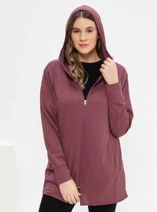 Purple - Plus Size Tracksuit