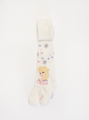 Ecru - Girls` Socks