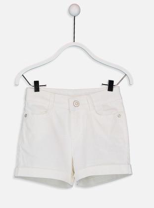 Beige - Girls` Shorts