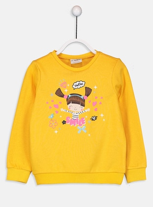 Yellow - Girls` Sweatshirt