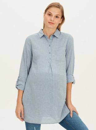 Blue - Maternity Blouses Shirts - LC WAIKIKI