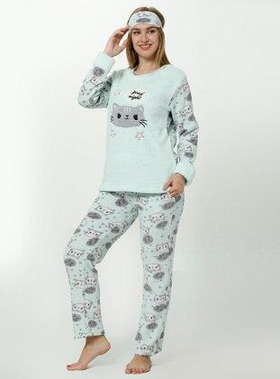 Sea-green - Crew neck - Multi - Pyjama