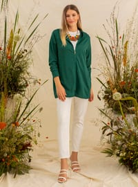Green - Plus Size Tracksuit