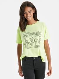 Crew neck - Yellow - T-Shirt