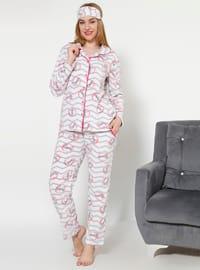 Ecru - Crew neck - Multi - Pyjama