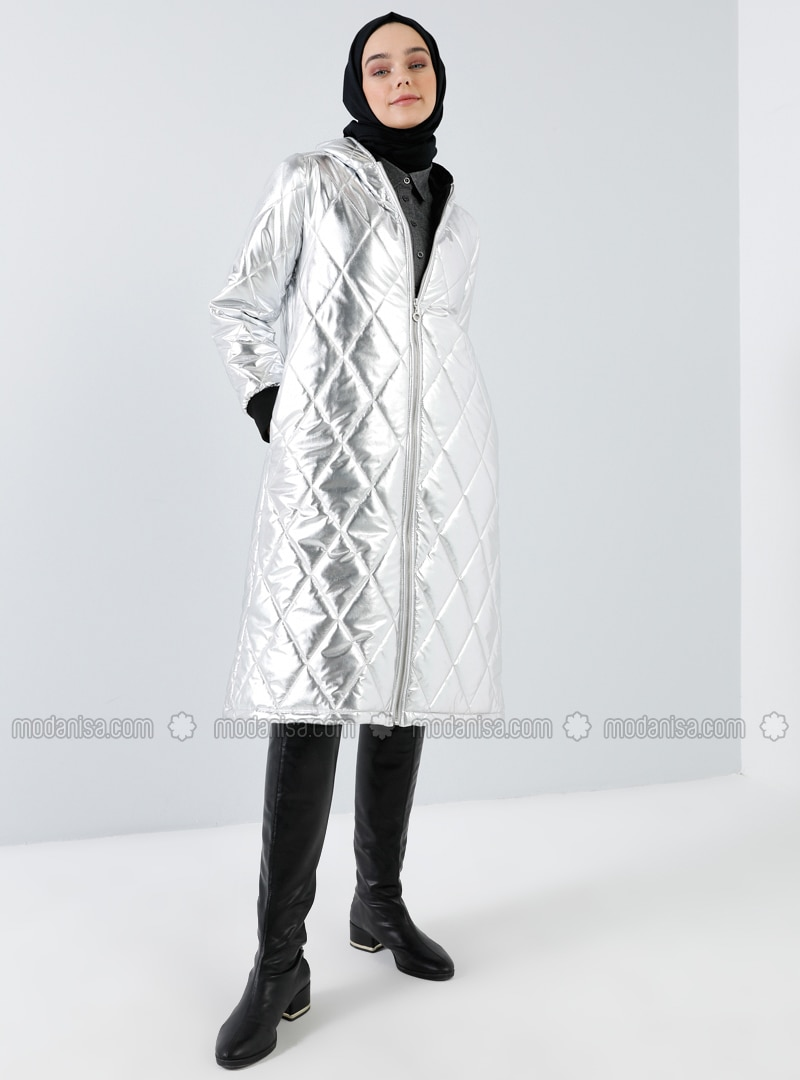 Silver tone - Unlined - Coat