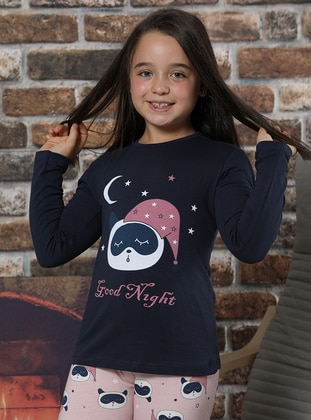 Navy Blue - Girls` Pyjamas