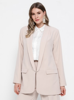 Stone - Shawl Collar - Fully Lined - Plus Size Jacket - Alia