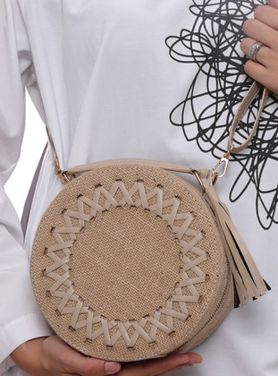 Straw - Cream - Shoulder Bags