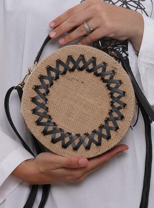 Straw - Black - Shoulder Bags