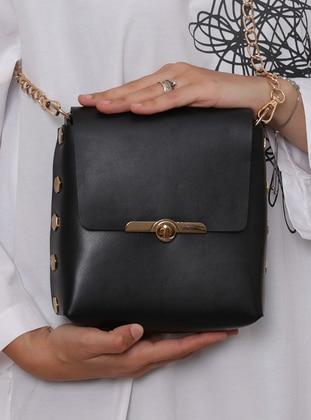 Metallic - Black - Shoulder Bags