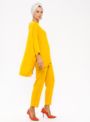 Yellow - Unlined - Viscose - Suit