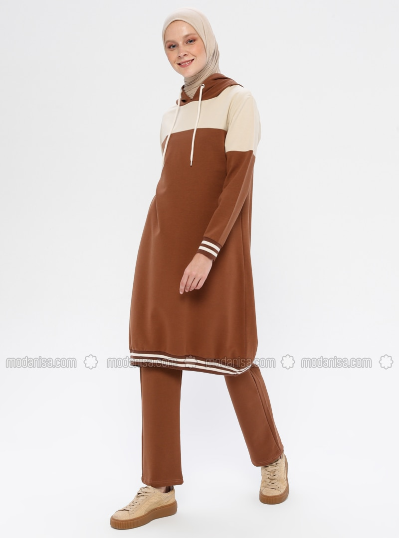 Brown - Cotton - Tracksuit Set