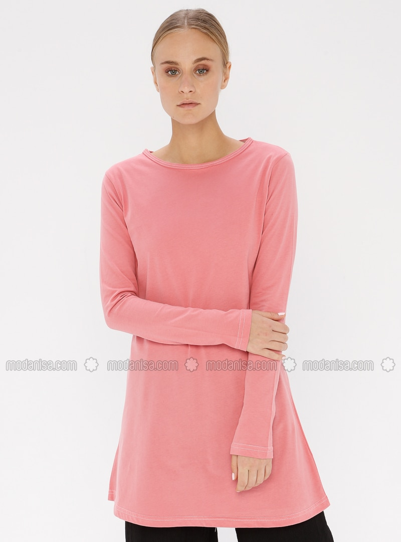 Dusty Rose - Crew neck -  - Tunic