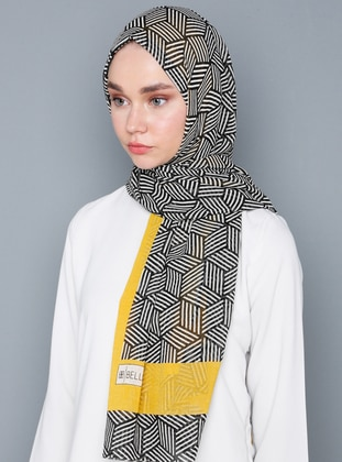 Yellow - Black - Striped - Shawl