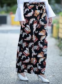 Black - Salmon - Orange - Stripe - Pants