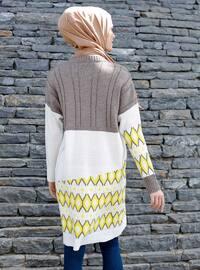 Yellow - Mink - Geometric - Crew neck -  -  - Tunic