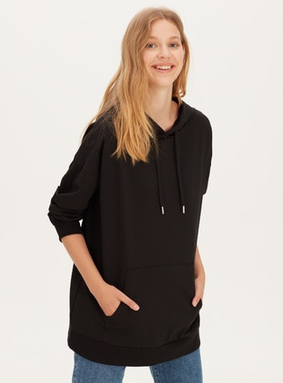 Black - Sweat-shirt - LC WAIKIKI